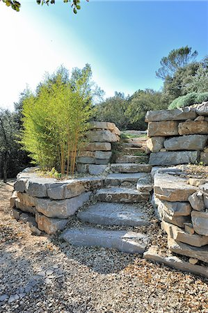 france - landscaped, stone stairs Stock Photo - Premium Royalty-Free, Code: 6106-07121467