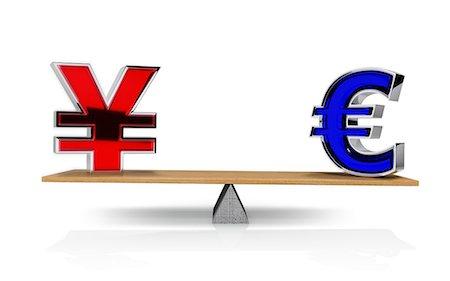 Yen and Euro symbol balancing on a seesaw Stock Photo - Premium Royalty-Free, Code: 6106-07202910