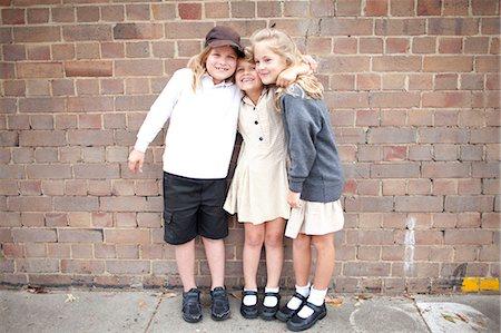 school girl uniforms - Friends at school in uniform Stock Photo - Premium Royalty-Free, Code: 6106-07349690