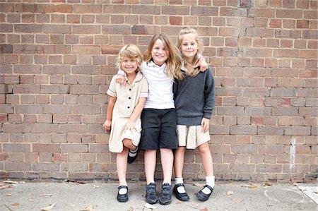 school girl uniforms - Australian public school children in playground Stock Photo - Premium Royalty-Free, Code: 6106-07349691