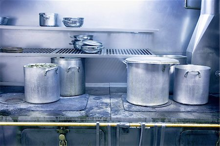 dirty - Kitchen in restaurant Stock Photo - Premium Royalty-Free, Code: 6106-07349824