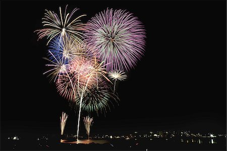 fireworks colored picture - Cyofu city Firework Festival Stock Photo - Premium Royalty-Free, Code: 6106-07349973