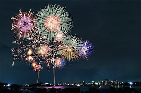 fireworks colored picture - Cyofu city Firework Festival Stock Photo - Premium Royalty-Free, Code: 6106-07349970