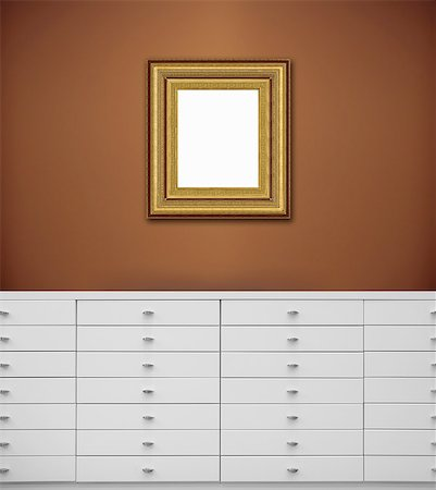 decorations - White chest of drawers Stock Photo - Premium Royalty-Free, Code: 6106-07349919