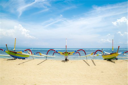 Traditional Boats, Sanur Beach, Sanur, Bali Stock Photo - Premium Royalty-Free, Code: 6106-07350060