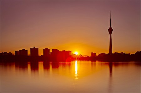 Beijing skyline in sunset Stock Photo - Premium Royalty-Free, Code: 6106-07350072