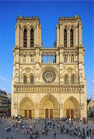 Notre Dame de Paris Cathedral, France Stock Photo - Premium Royalty-Free, Code: 6106-07350291