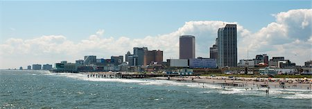 Atlantic City beach and boardwalk. Stock Photo - Premium Royalty-Free, Code: 6106-07454971