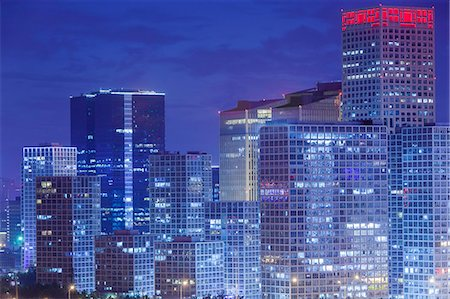 evening cityscape of Beijing CBD area Stock Photo - Premium Royalty-Free, Code: 6106-07455068