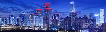 evening cityscape of Beijing CBD area Stock Photo - Premium Royalty-Free, Code: 6106-07455071