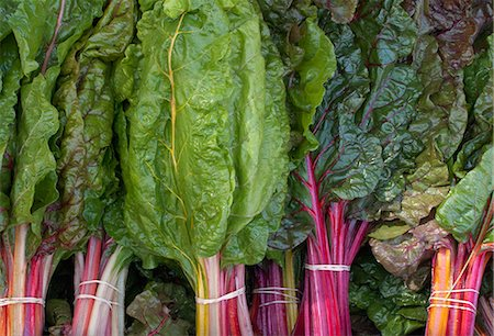 supermarket not people - Swiss Chard at a farmers market Stock Photo - Premium Royalty-Free, Code: 6106-07455098