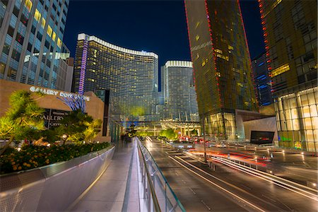 Las Vegas, The Strip, CityCenter, Aria Resort Stock Photo - Premium Royalty-Free, Code: 6106-07455147