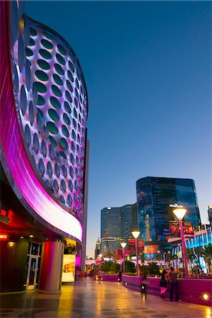 Las Vegas, The Strip, Planet Hollywood facade Stock Photo - Premium Royalty-Free, Code: 6106-07455146