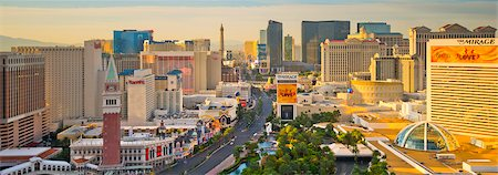 USA, Nevada, Las Vegas, The Strip Stock Photo - Premium Royalty-Free, Code: 6106-07455125