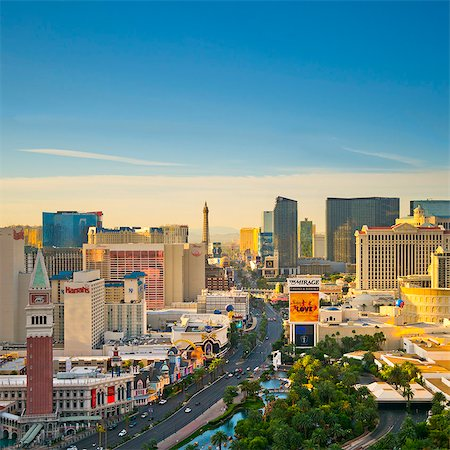 USA, Nevada, Las Vegas, The Strip Stock Photo - Premium Royalty-Free, Code: 6106-07455130