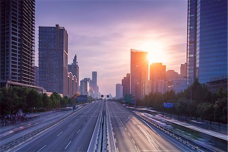 expressway in downtown Beijing Stock Photo - Premium Royalty-Free, Code: 6106-07455253