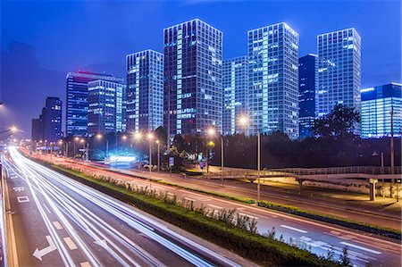 cityscape of Beijing CBD area Stock Photo - Premium Royalty-Free, Code: 6106-07455259