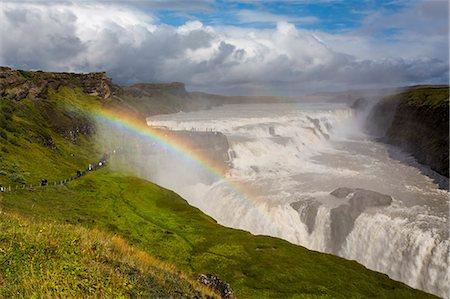 rainbow - Rainbow over Dettifoss Stock Photo - Premium Royalty-Free, Code: 6106-07455628