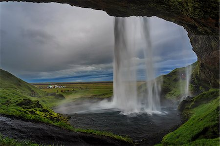 scenic - Seljalandsfoss  Iceland Stock Photo - Premium Royalty-Free, Code: 6106-07455633