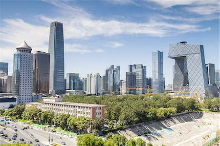 Beijing CBD area cityscape Stock Photo - Premium Royalty-Free, Code: 6106-07493463