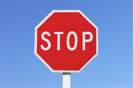 sign - Stop Sign Stock Photo - Premium Royalty-Free, Code: 6106-07493483