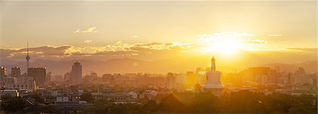 Beijing sunset and skyline Stock Photo - Premium Royalty-Free, Code: 6106-07493524
