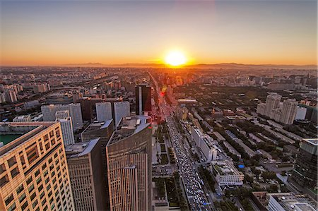 aerial view of Beijing Stock Photo - Premium Royalty-Free, Code: 6106-07493537