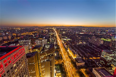 aerial view of Beijing Stock Photo - Premium Royalty-Free, Code: 6106-07493536