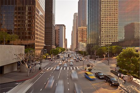 Traffic in downtown Los Angeles Stock Photo - Premium Royalty-Free, Code: 6106-07493624