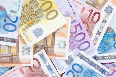 Euro - EU banknotes. Stock Photo - Premium Royalty-Free, Code: 6106-07493864