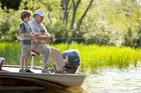 family shoes - Grandfather & Grandson fishing Stock Photo - Premium Royalty-Free, Code: 6106-07493927