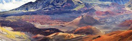 scenic view - USA, Hawaii, Maui, Haleakala National Park Stock Photo - Premium Royalty-Free, Code: 6106-07593908