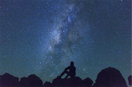 sky stars - Hawaii, Mauna Kea Observatory Stock Photo - Premium Royalty-Free, Code: 6106-07594004