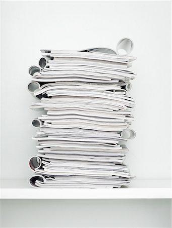 paper - Pile of magazines Stock Photo - Premium Royalty-Free, Code: 6106-07594493