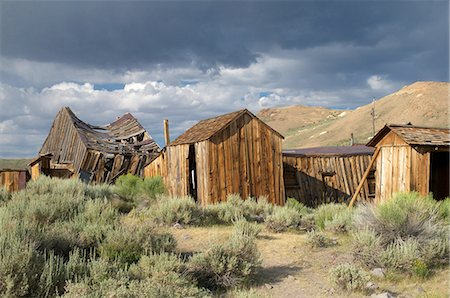 Ghost town of Bodie Stock Photo - Premium Royalty-Free, Code: 6106-07594811