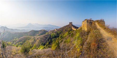 China, Great Wall of China, Gubeikou - Jinshanling Stock Photo - Premium Royalty-Free, Code: 6106-07539392