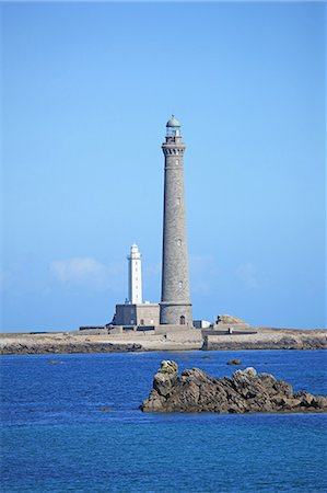 France, Brittany, Lighthouse Stock Photo - Premium Royalty-Free, Code: 6106-07539320