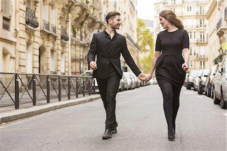 Well Dressed Loving Couple Stock Photo - Premium Royalty-Free, Code: 6106-07539452