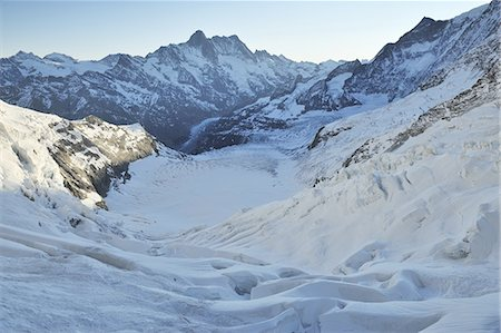 snow capped - View from Jungfraujoch Stock Photo - Premium Royalty-Free, Code: 6106-07539550