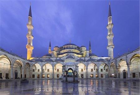The Blue Mosque or Sultan Ahmed Mosque in Turkish Stock Photo - Premium Royalty-Free, Code: 6106-07602236
