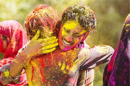 stains and discolorations - Holi Festival Celebrations Stock Photo - Premium Royalty-Free, Code: 6106-07761792