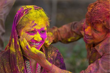 stains and discolorations - Holi Festival Celebrations Stock Photo - Premium Royalty-Free, Code: 6106-07761796