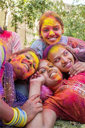 stains and discolorations - Holi Festival Celebrations Stock Photo - Premium Royalty-Free, Code: 6106-07761798
