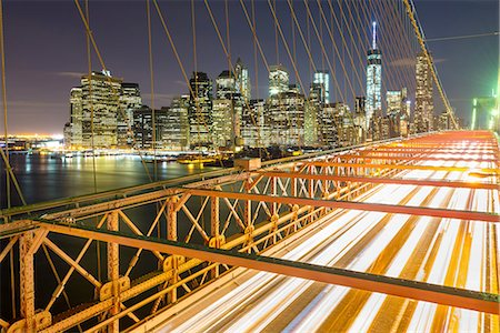 Manhattan, Brooklyn Bridge, New York City, USA Stock Photo - Premium Royalty-Free, Code: 6106-07761835