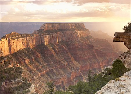 extreme terrain - View of the Grand Canyon from the North Rim Stock Photo - Premium Royalty-Free, Code: 6106-08057907