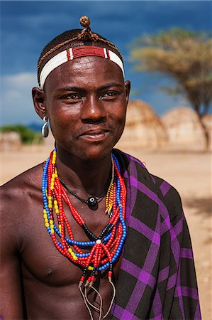 Man from Erbore tribe, Omo Valley in Ethiopia Stock Photo - Premium Royalty-Free, Code: 6106-08080647