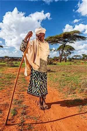 The old man from Borana tribe in Southern Ethiopia Stock Photo - Premium Royalty-Free, Code: 6106-08080644