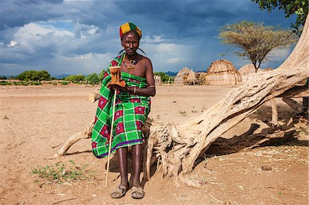 Man from Erbore tribe, Omo Valley in Ethiopia Stock Photo - Premium Royalty-Free, Code: 6106-08080630