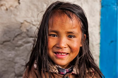 Portrait of young Sherpa girl in Everest Region Stock Photo - Premium Royalty-Free, Code: 6106-08080797
