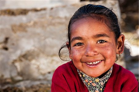 Portrait of young Sherpa girl in Everest Region Stock Photo - Premium Royalty-Free, Code: 6106-08080796